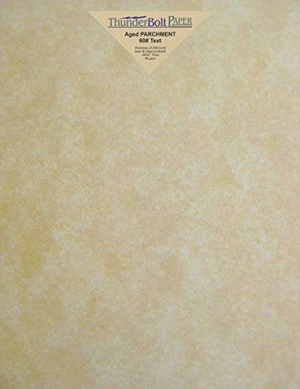 amazon com 50 old aged parchment 60lb text weight 8 5 x 11 inches