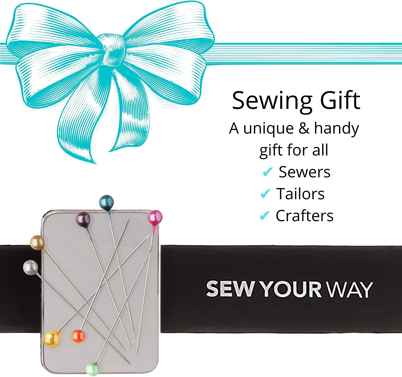 EXCEART 2 Pcs Magn/étique Couture Pincushion Coussin Slap Bracelets Wearable Pin Caddy Trombone Support pour Punaises Aiguilles /à Coudre Cheveux /Épingles /à Cheveux