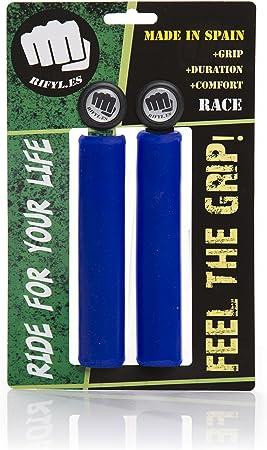 RIFYL (Race) Juego de puños para Bicicleta o Mountain Bike, Color Azul, diámetro 30,5mm: Amazon.es: Deportes y aire libre