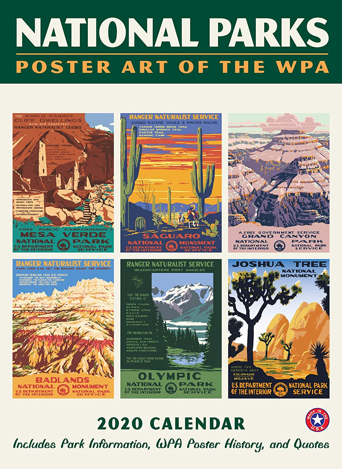 Small Changes 2020 National Parks Posters Calendar 1 Ea Amazon Co Uk Office Products
