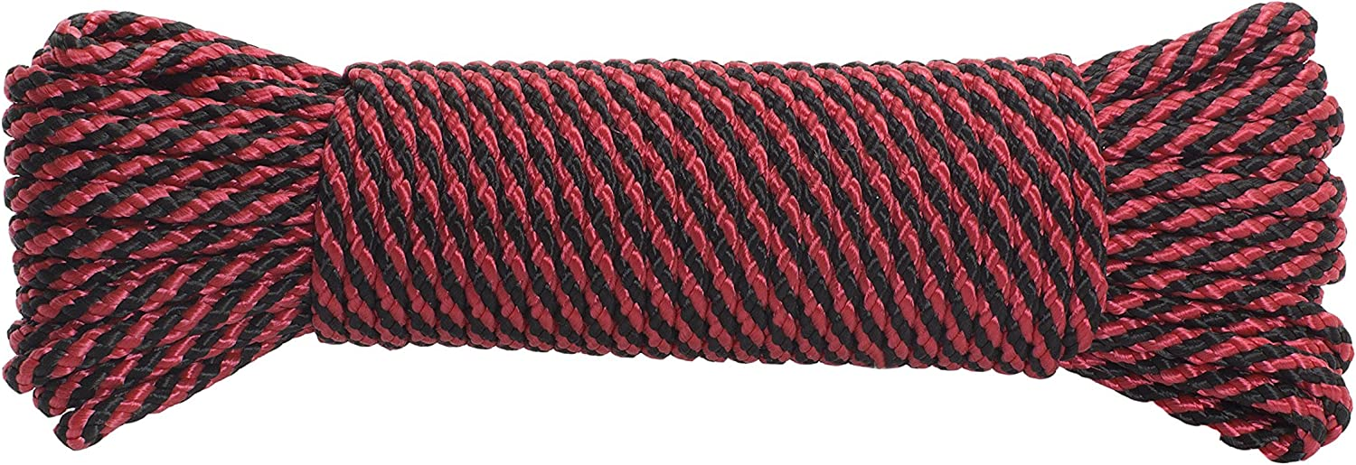 Wilcor Outdoors 50 Foot Rope Size 5//32 Braided Assorted Colors