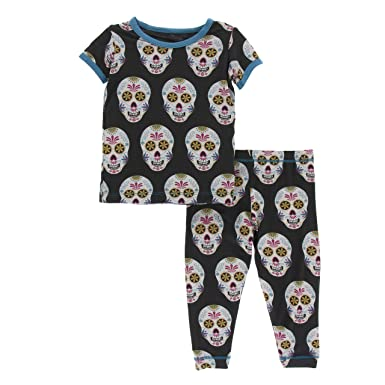 Amazon.com  Kickee Pants Print Short Sleeve Pajama Set  Infant And ... 043c57056