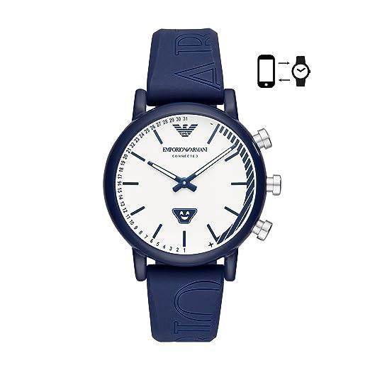 Emporio Armani Reloj Analógico para Hombre de Cuarzo con Correa en Silicona ART3023: Amazon.es: Relojes