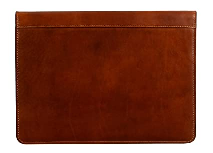 buy online a3ae3 934f0 Leather Portfolio Document Folder Handcrafted Case Brown Time Resistance