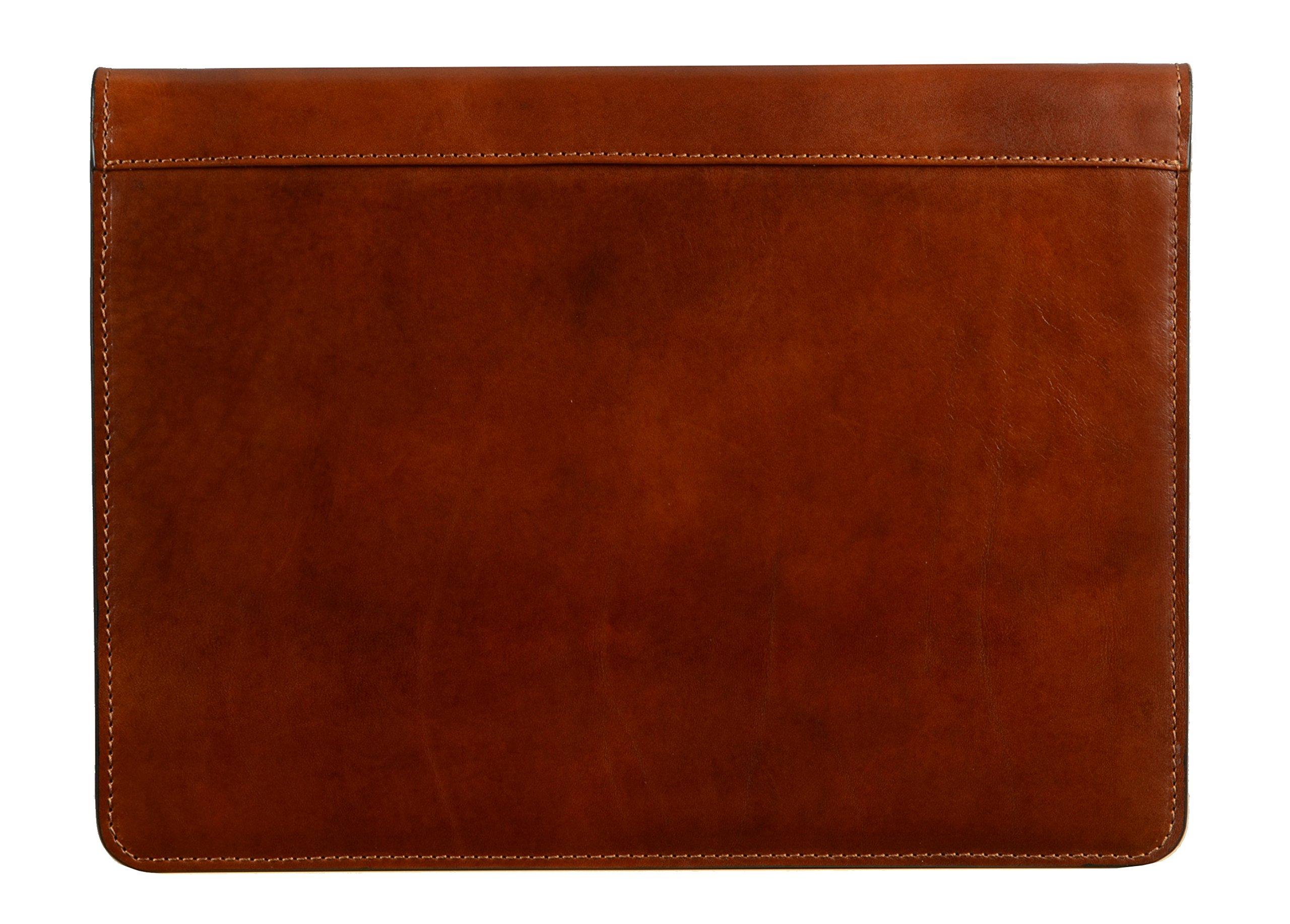 Full Grain Leather Document Folder, Handmade, Brown Portfolio, Organizer,Document Holder, Case, Unisex Classy Best Color Amber - Time Resistance