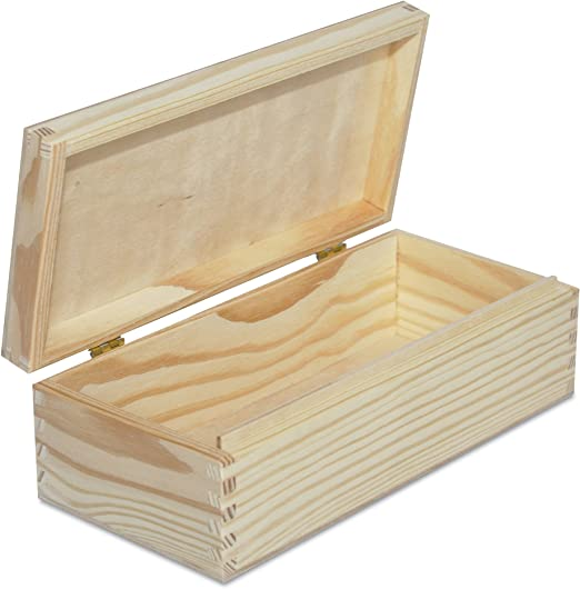 Creative Deco Larga Caja Madera para Decorar | 24 x 11,3 x 7,2 cm ...