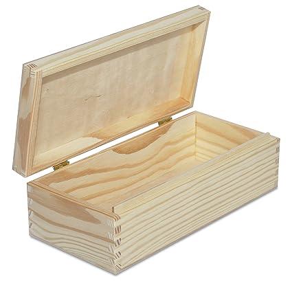 Creative Deco Larga Caja Madera para Decorar | 24 x 11,3 x 7,