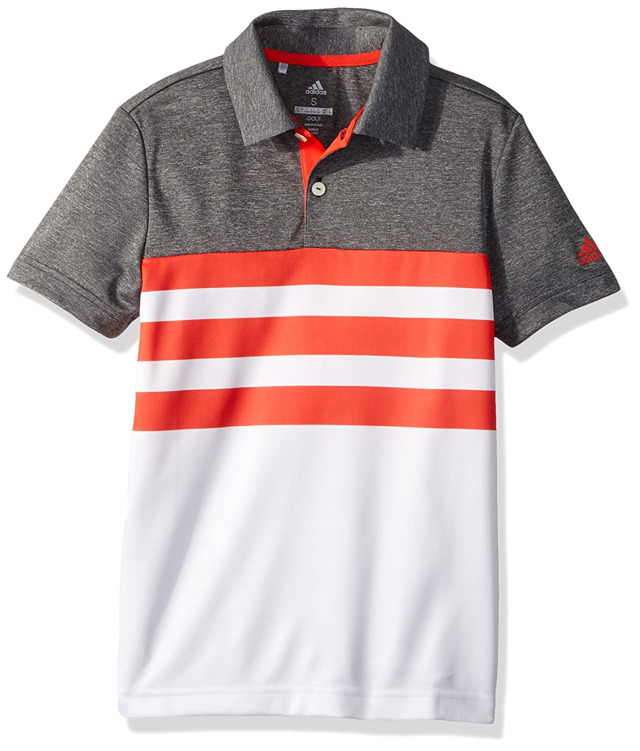 adidas Golf 3 Rayas Fashion Polo, Unisex, Color Hi-Res Red, tamaño ...