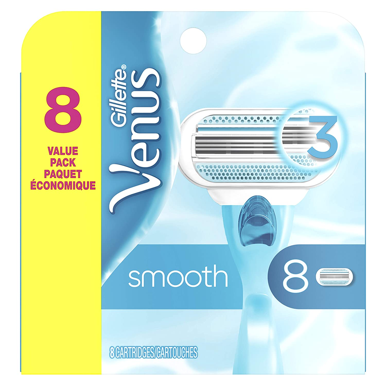 Gillette Venus Smooth Women's Razor Blades - 8 Refills