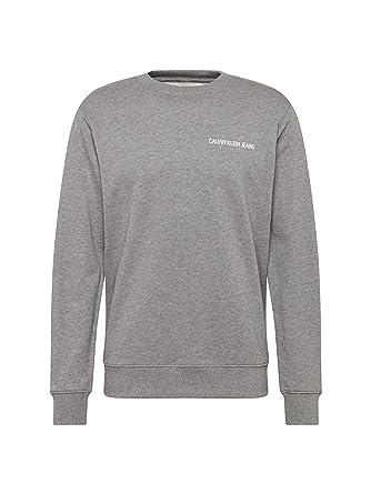 Calvin Klein - Sudadera - para Hombre Gris XS: Amazon.es: Ropa y accesorios
