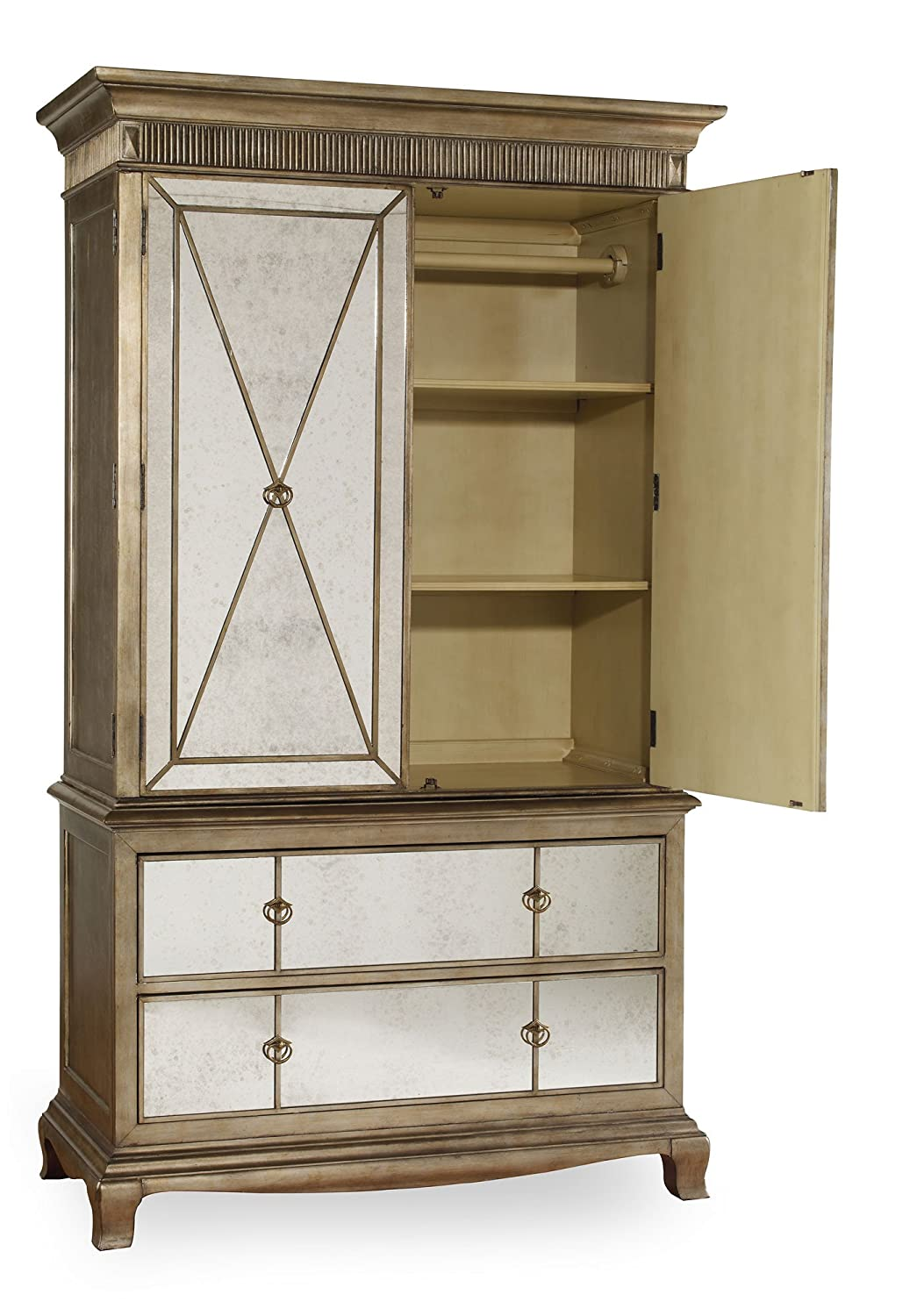 Amazon.com: Hooker Furniture Sanctuary Armoire In Visage: Kitchen U0026 Dining