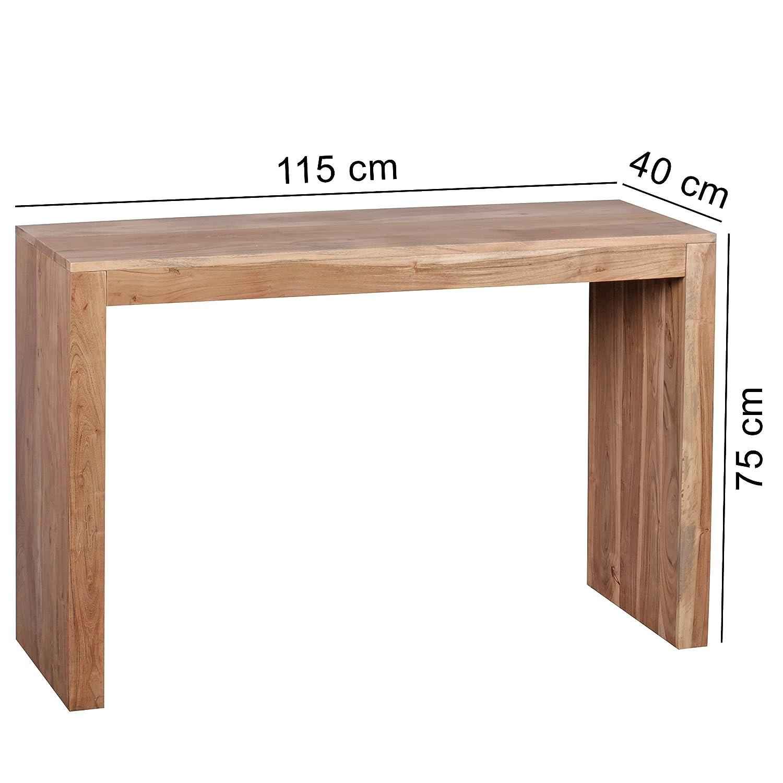 FineBuy Konsolentisch Konsolentisch Konsolentisch Massivholz Design Konsole Schreibtisch 115 x 40 cm Landhaus-Stil Arbeitstisch Naturholz modern 75921d