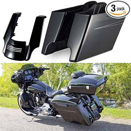 Harley Davidson Touring Body Work Extended Stretched Rear Filler Fender for 09