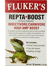 Fluker Labs SFK73030 Insectivore/Carnivore High AMP Boost Reptile Supplement, 50gm