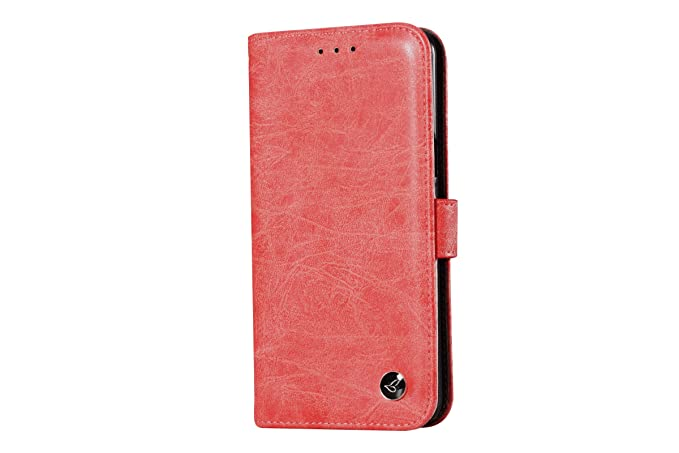 the latest 6dac5 3e485 Galaxy S8 Plus Case,ERAGLOW [RFID Blocking wallet] Premium Genuine Leather  100% Handmade Wallet Case Credit Card Protector for Samsung Galaxy S8 Plus  ...