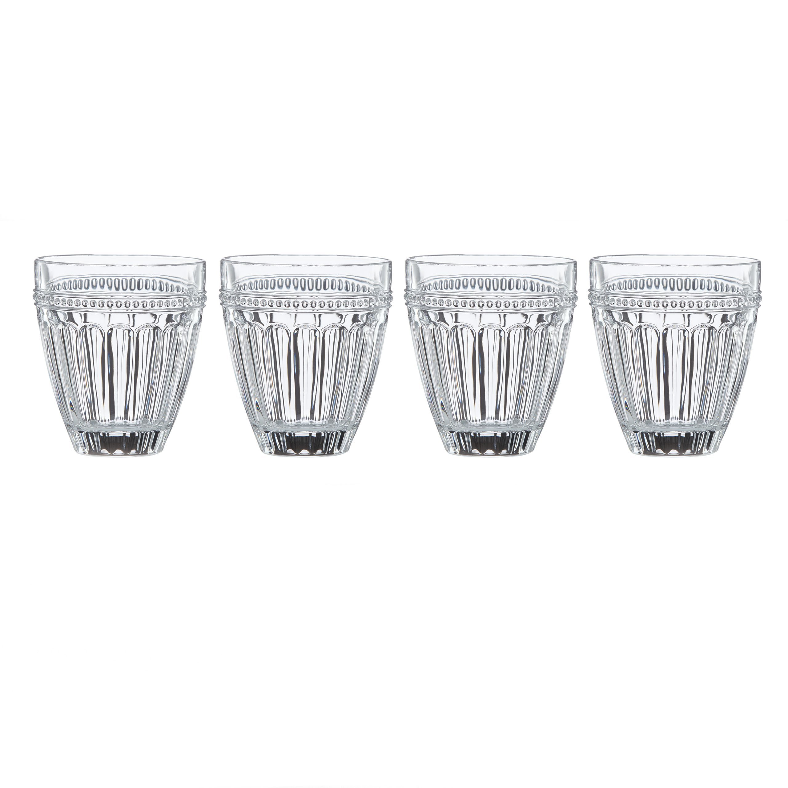 Lenox French Perle Double Old Fashion Glass (Set of 4), Clear