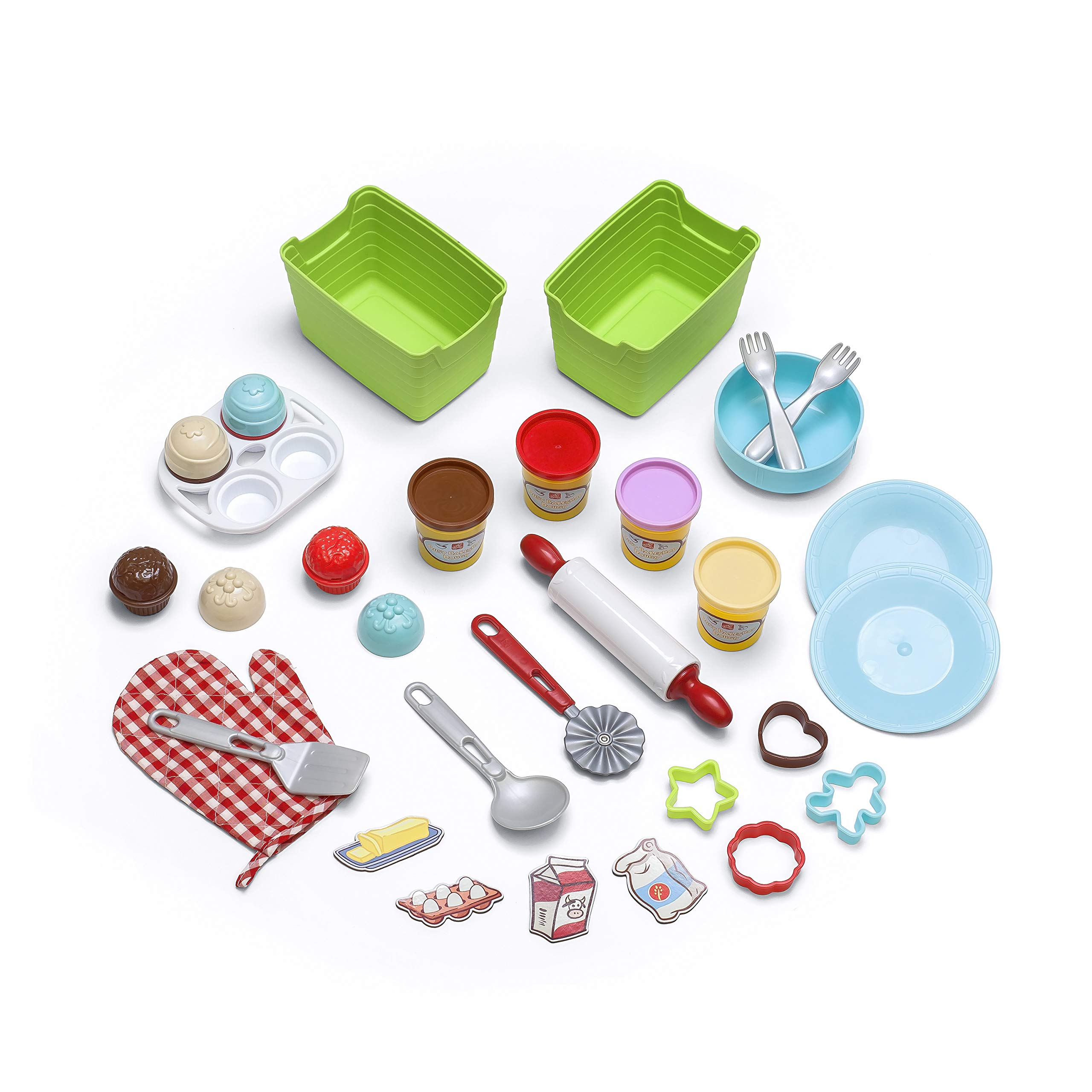 Step2 Create & Bake Play Kitchen with Toy Baking Set, Pink & Purple, 40'' H x 34.25'' W x 12'' D by Step2 (Image #8)