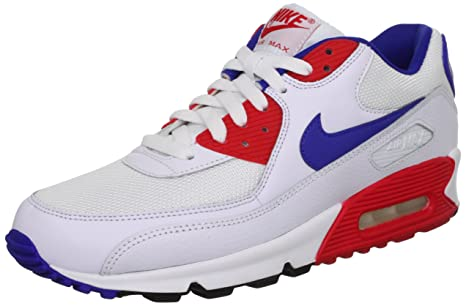 brand new 20aca b5bce Nike Air Max 90 Essential White Hyper Blue Red (537384-146) (8