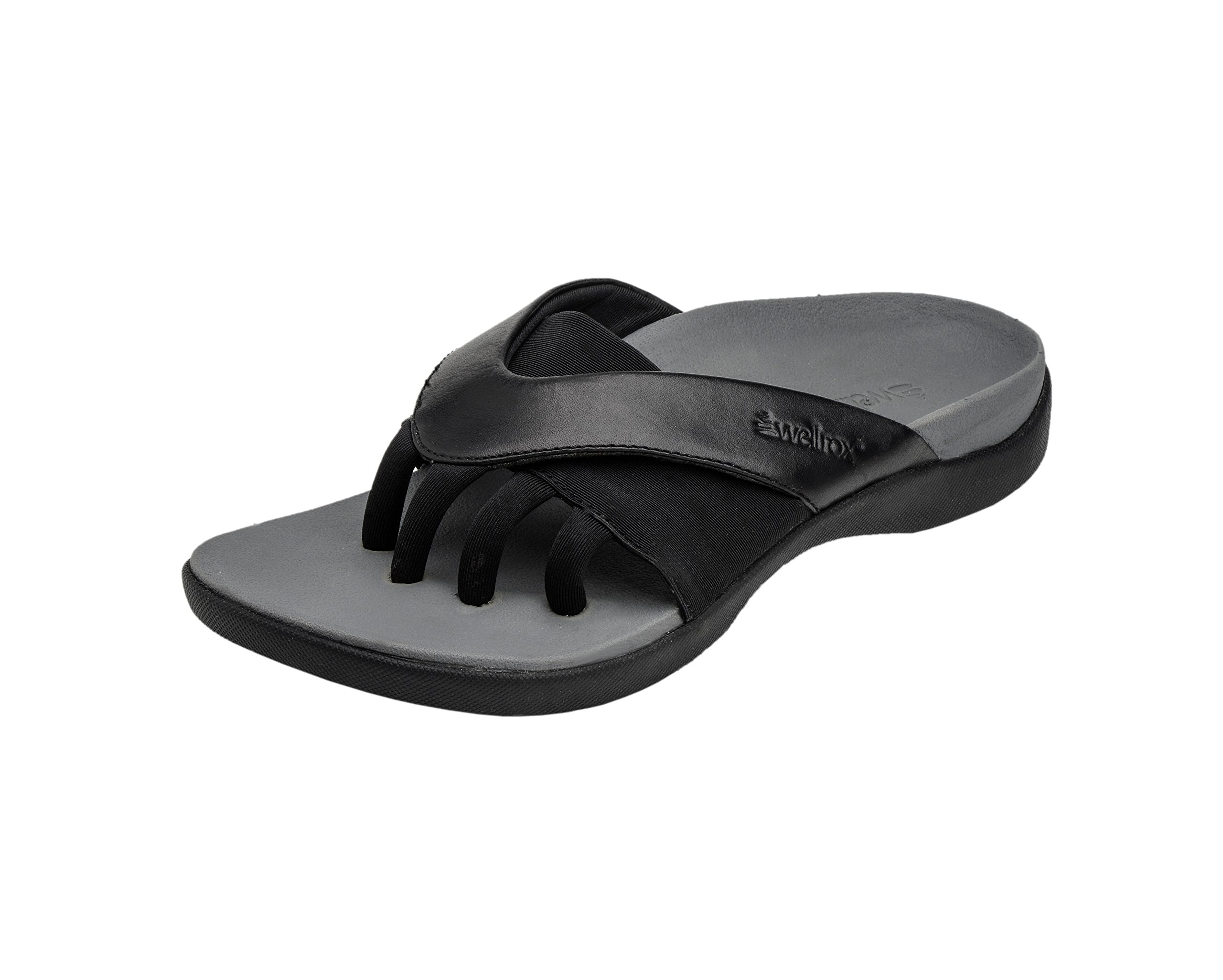 Wellrox Women's Evo-Grasp Black Casual Sandal 11