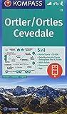 Ortler/Ortles, Cevedale: 5in1 Wanderkarte 1:50000 mit Panorama, Aktiv Guide und Detailkarten inklusive Karte zur offline Verwendung in der ... Skitouren. (KOMPASS-Wanderkarten, Band 72)