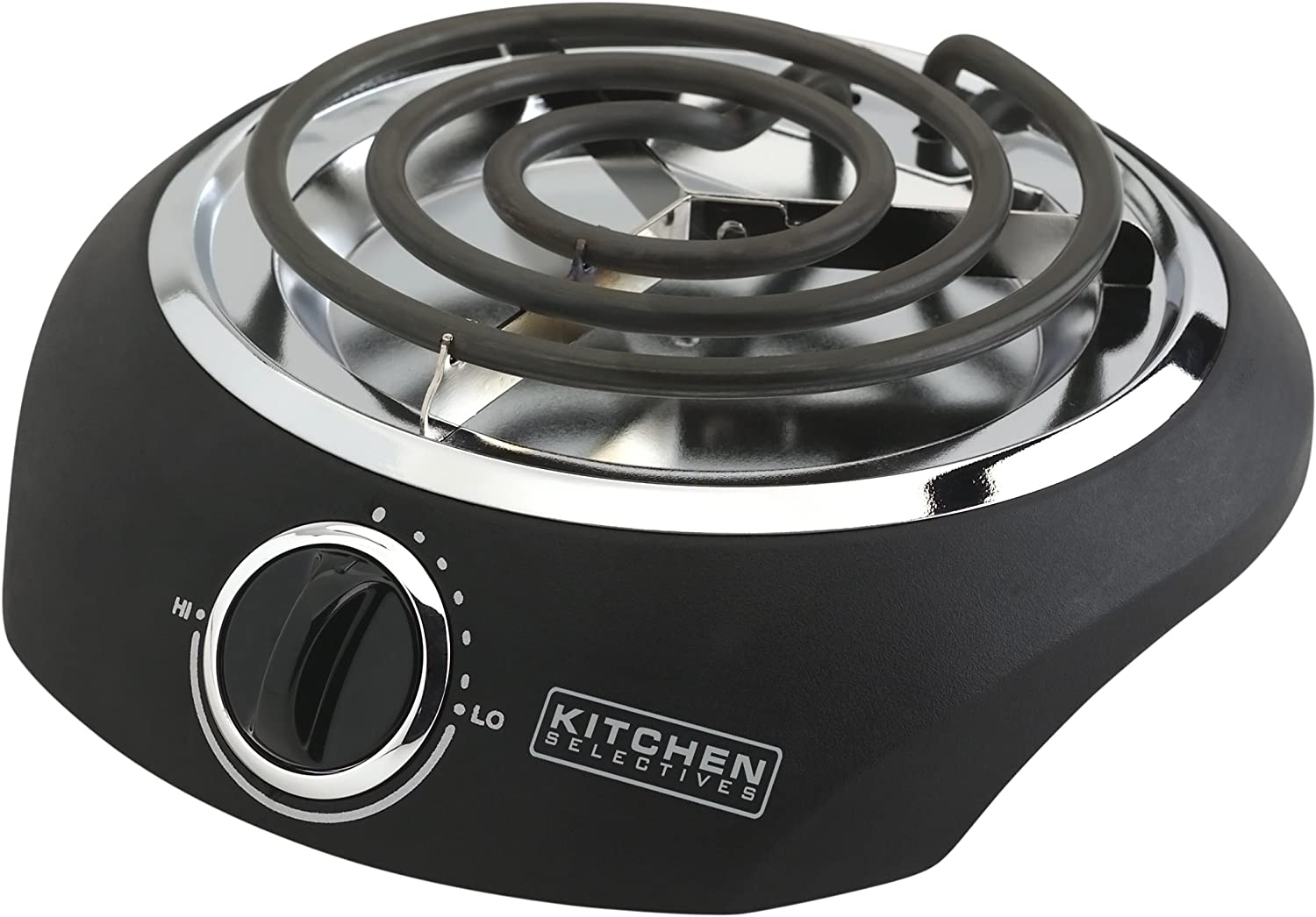 Kitchen Selectives SB-1 Kitchen Selectives Single Burner 1000 watts, Black