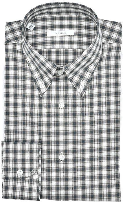 Marcus - Camisa de hombre a cuadros Button Down algodón ...
