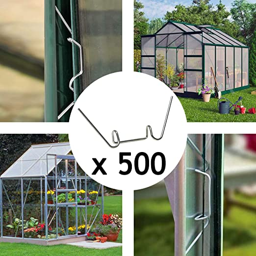 Spares2go - Juego de 500 clips de alambre para invernadero: Amazon ...