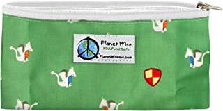 product image for Planet Wise Reusable Zipper Sandwich and Snack Bags, Snack, Magic Dragon
