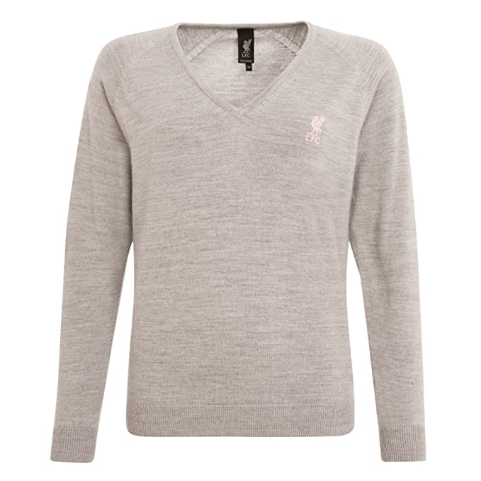 1e6fbe873a3 Liverpool FC Signature Collection Wool/Nylon Grey Ladies V Neck ...
