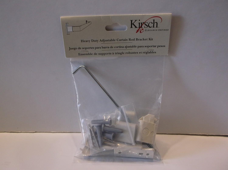 Amazon.com: Kirsch Heavy Duty Adjustable Curtain Rod Bracket Kit: Home U0026  Kitchen
