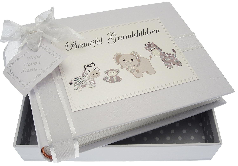 Blanco Cotton Cards – Álbum de juguetes hermosa de nietos de hermosa plata (pequeño) 845aeb
