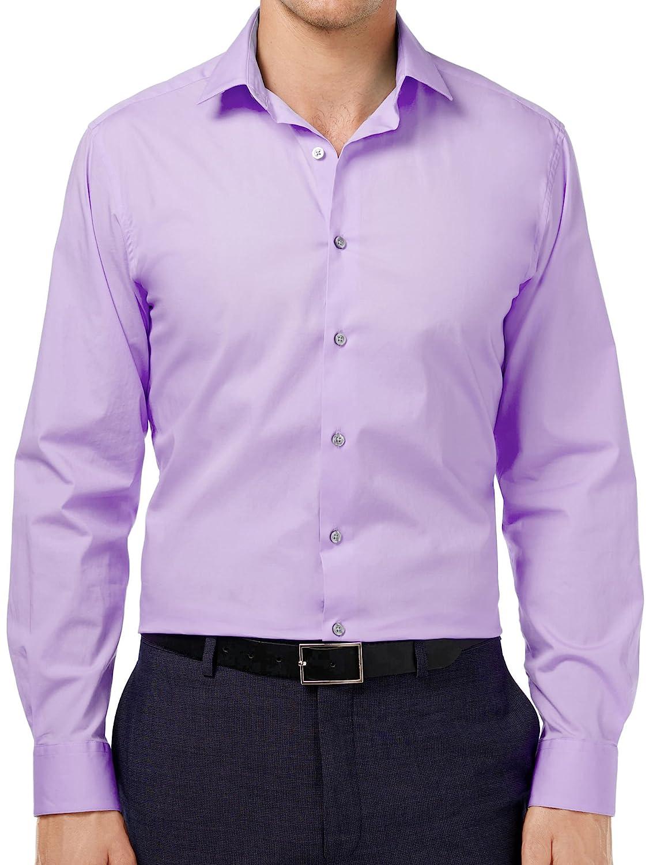 2b446b7a1c Alfani Mens Slim Fit Stretch Dress Shirt at Amazon Men s Clothing store