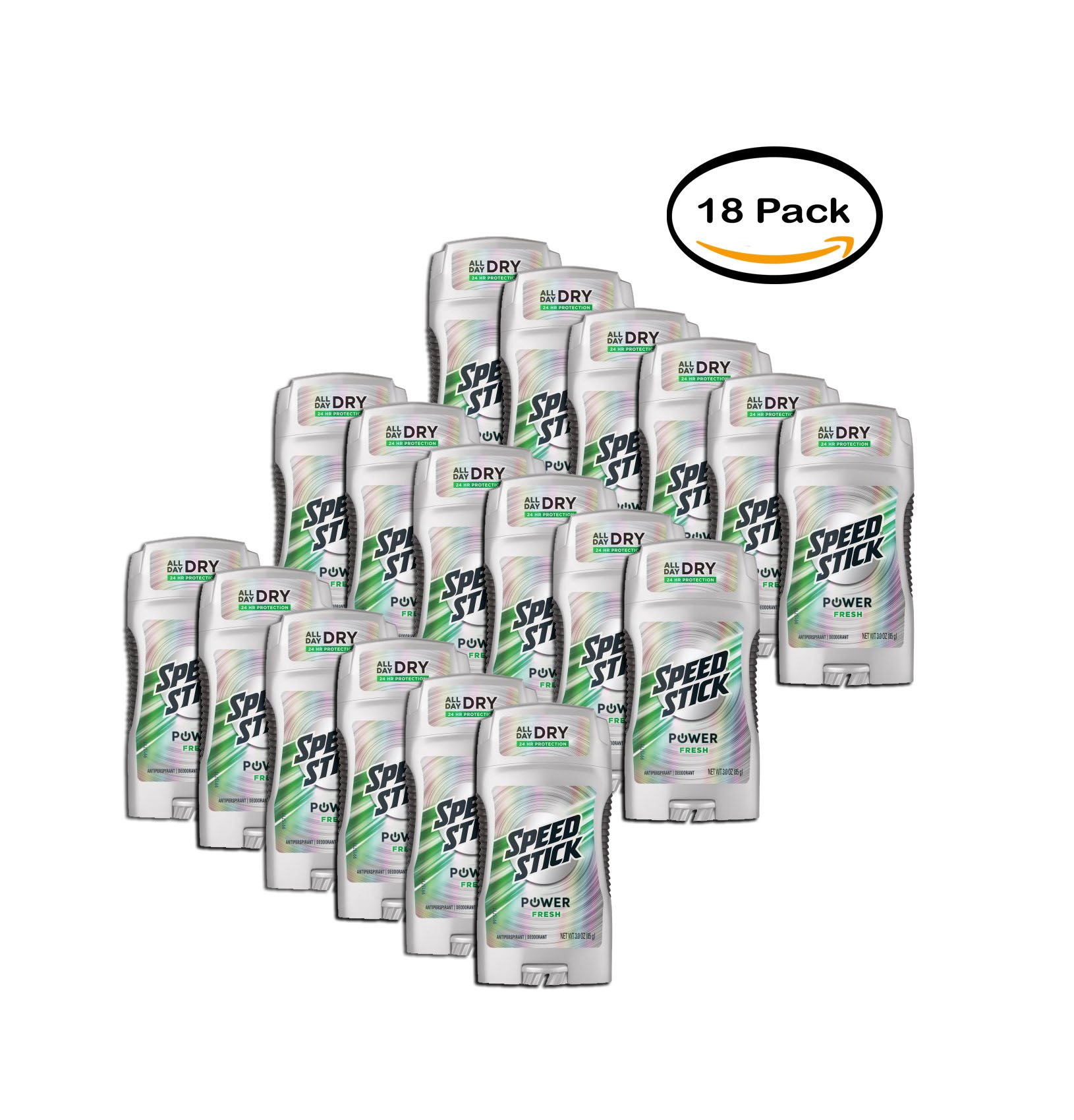 PACK OF 18 - Speed Stick Antiperspirant/Deodorant Power Fresh, 3.0z