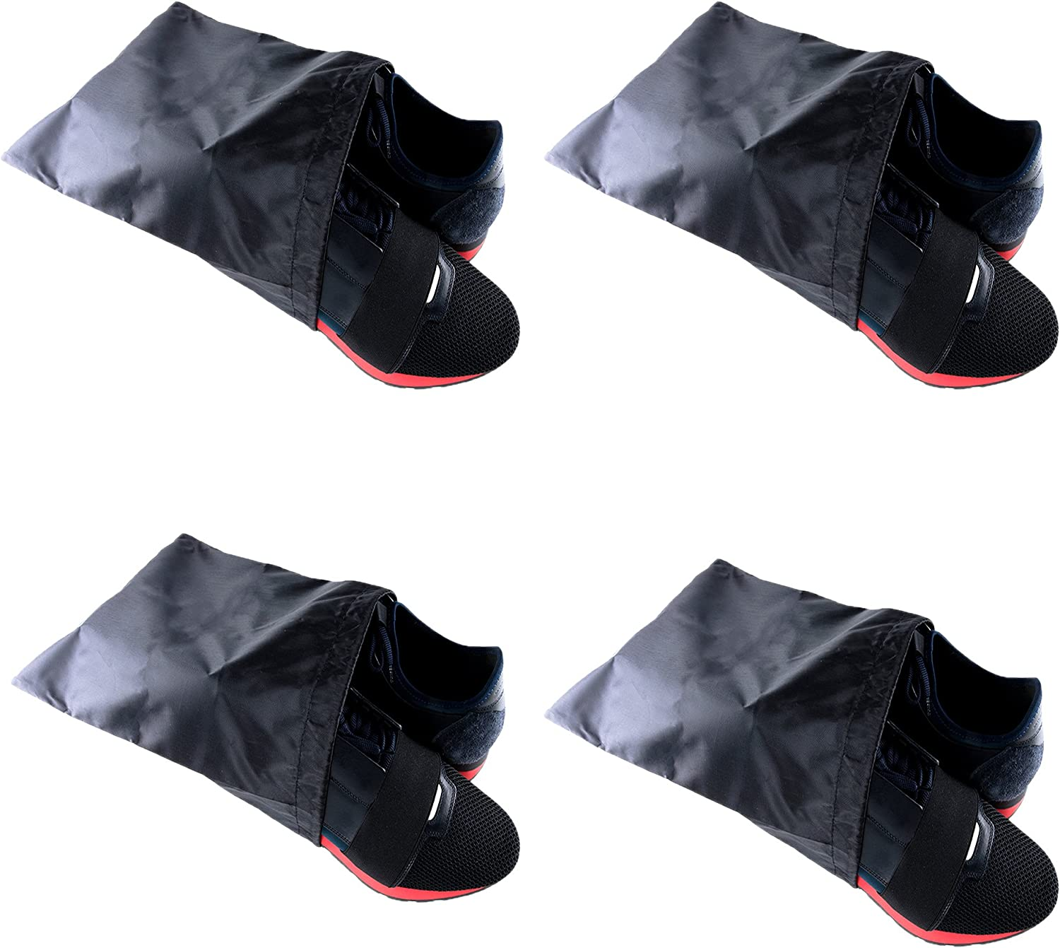 """Waterproof Nylon Dust-Proof Travel Bags with Drawstring Closure for Shoes Footwear Protection, Space Saving, Closet Home Organization Gift 15"""" x 12"""" (3 Pack): Home & Kitchen"""