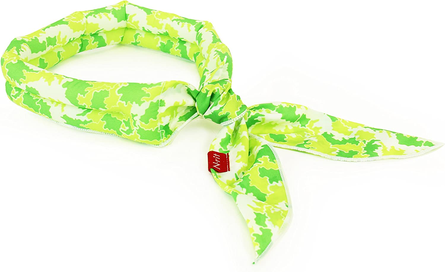 N-rit Cooling Scarf. Wrap a Soaked Tie Around Neck or Head to Instantly Chill Out. Crystal Polymer Technology Keeps Cool & Reusable. Great for Summer, Outdoor Activities & Sports. [Green Camo]
