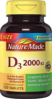 Nature Made 220-Count Vitamin D3 2000 IU