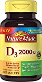 Nature Made Vitamin D3 2000 IU, Value Size, 220-Count