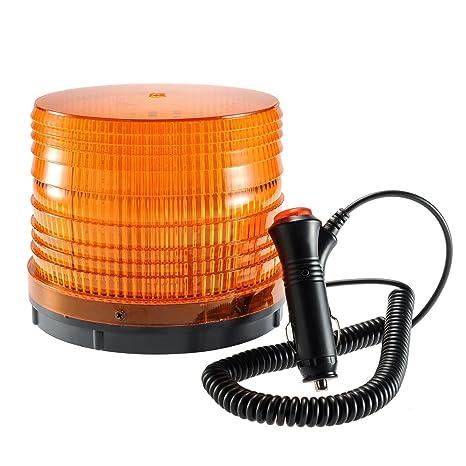 Car truck led emergency strobe light magnetic flash rotating warning beacon lights with 12v cigarette lighter