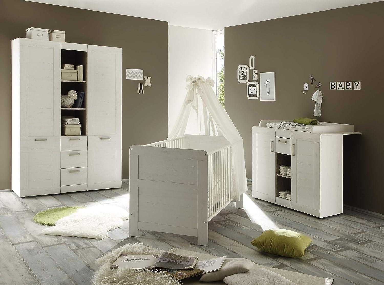 Wandboard weiss Wand Regal Kinderzimmer Babyzimmer LANDI Pinie Garderobe Kinder