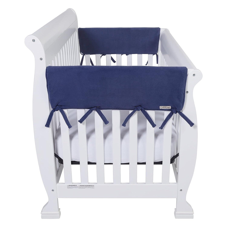 Bonavita crib for sale used - Amazon Com White Fleece 3 Piece Cribwrap Convertible Crib Rail Cover Set Crib Rail Guard Baby