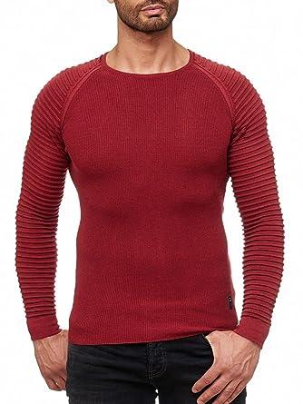 d21139bc476c Redbridge Herren Strickpullover Classic RIPP-Effekt Pullover RBC  Sweatshirt  Amazon.de  Bekleidung