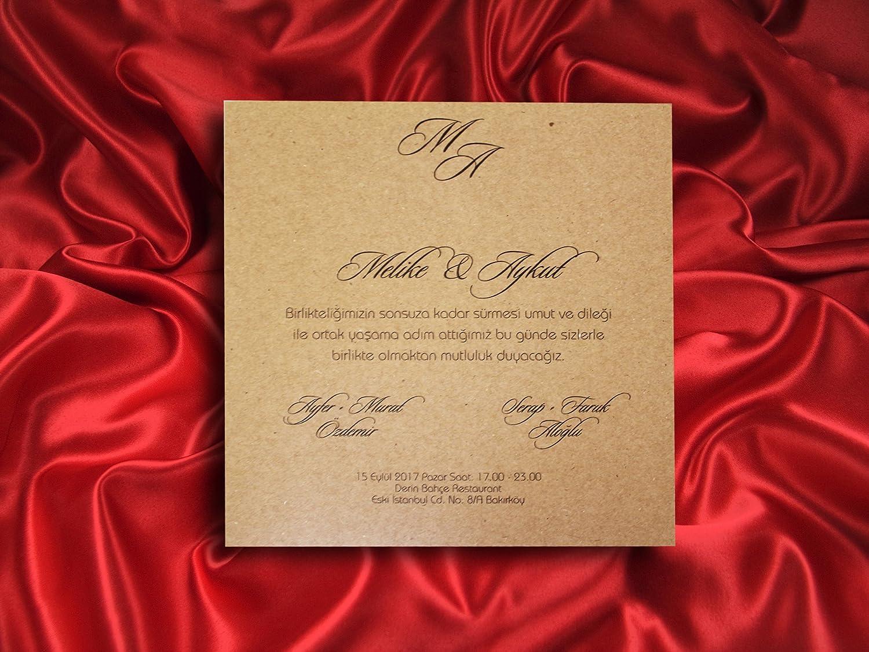 Amazon.com: Lasercut Wedding invitations arabic style kraft paper ...