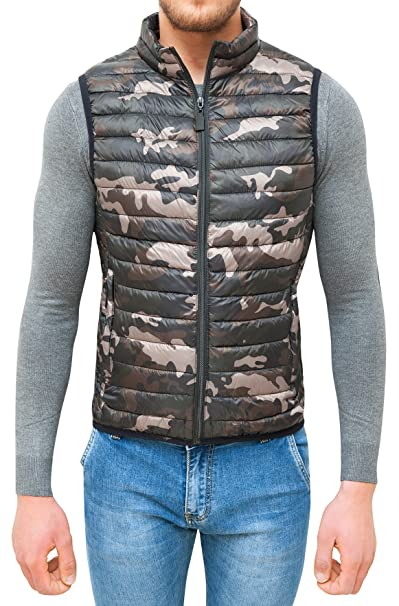 AK collezioni Giubbotto Smanicato Uomo Militare Mimetico Slim Fit Giacca  Gilet Casual  Amazon.it  Abbigliamento ab51752da2c