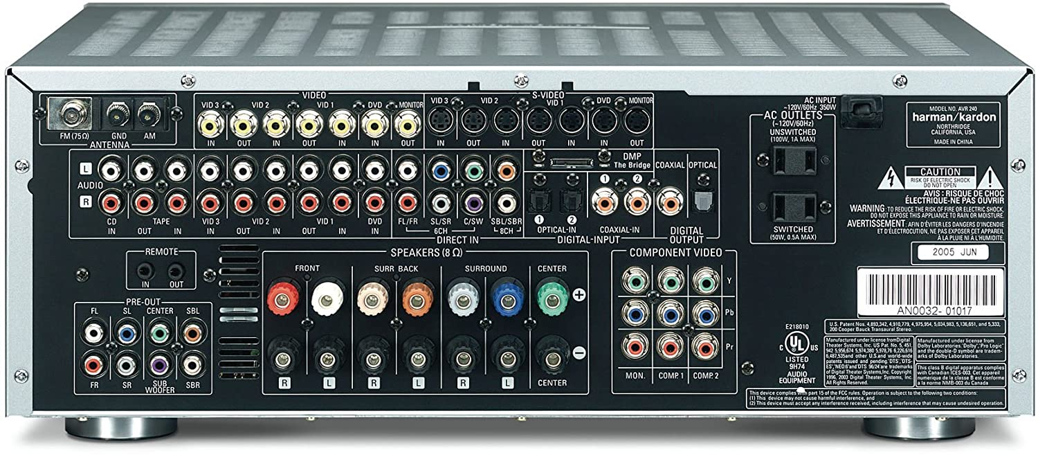 Harman Kardon Avr 240 71 Channel A V Receiver Silver Hk How To Wire 3 Way Switch With Video Discontinued By Manufacturer Home Audio Theater