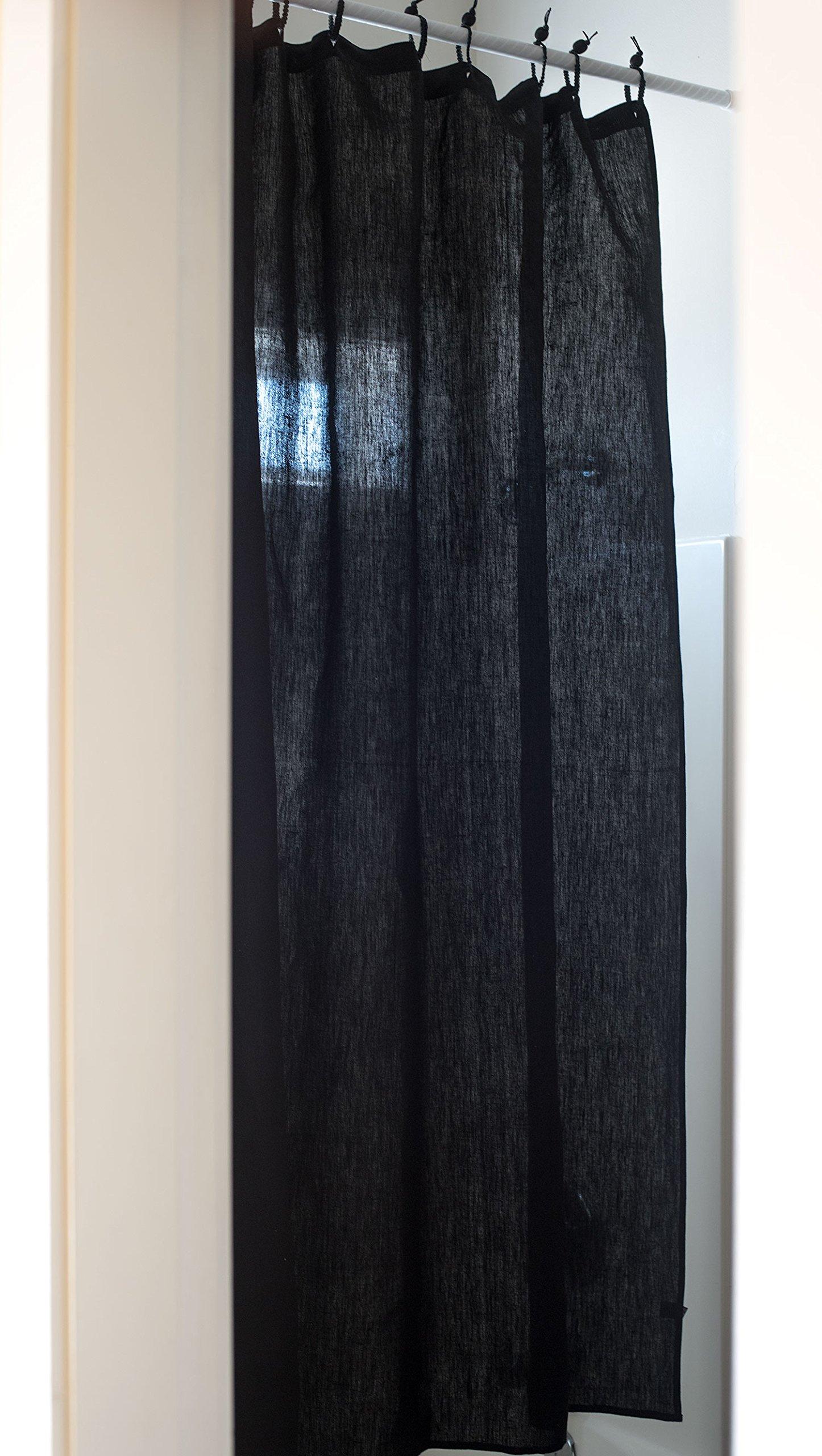 Organic Hemp Shower Curtain Full Size (73.5''x72'') - Black