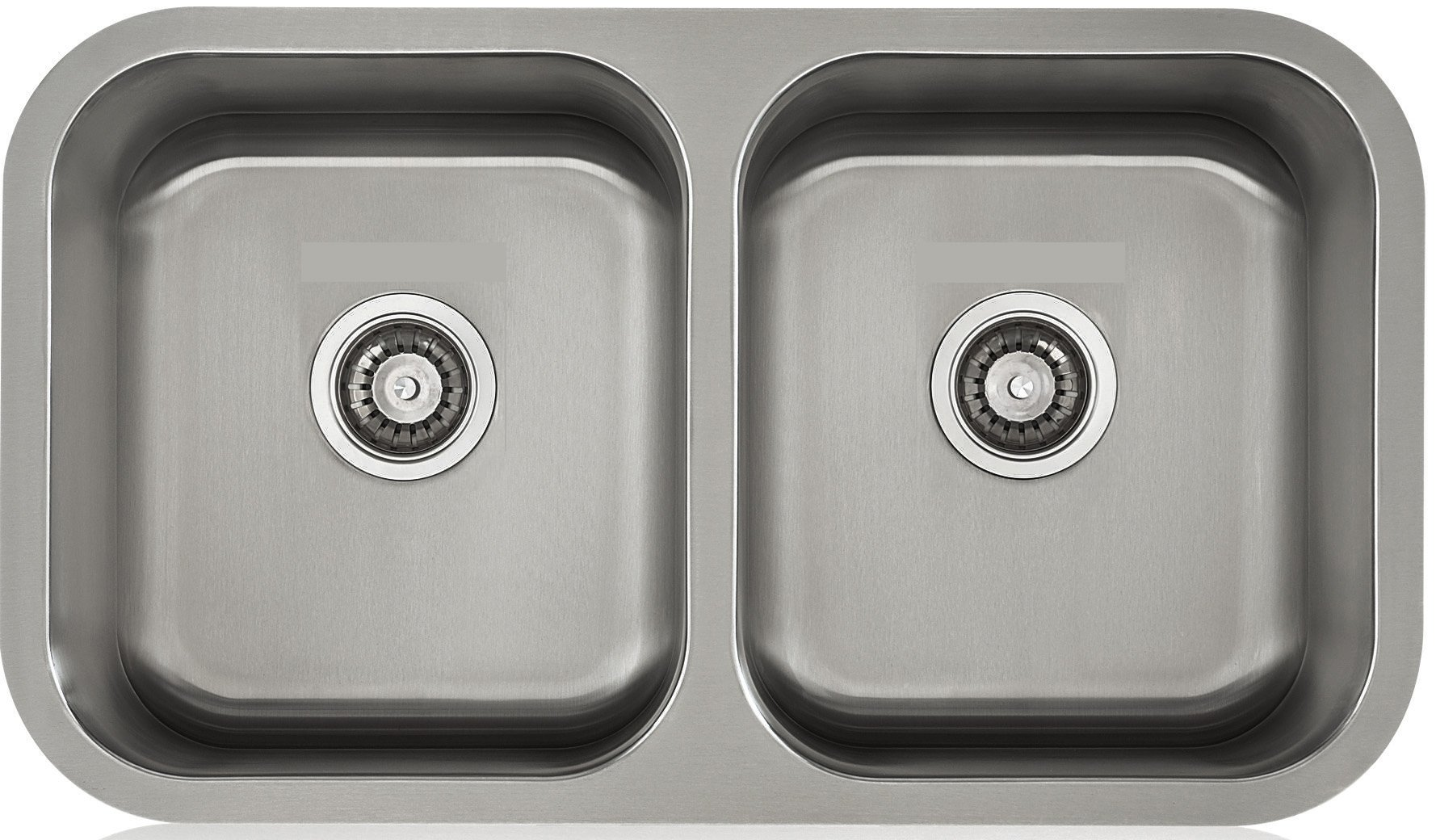 Lenova LD18118 Apogee Stainless Steel Equal Double Bowl Under-Mount Kitchen Sink, 18-Gauge by Apogee (Image #1)