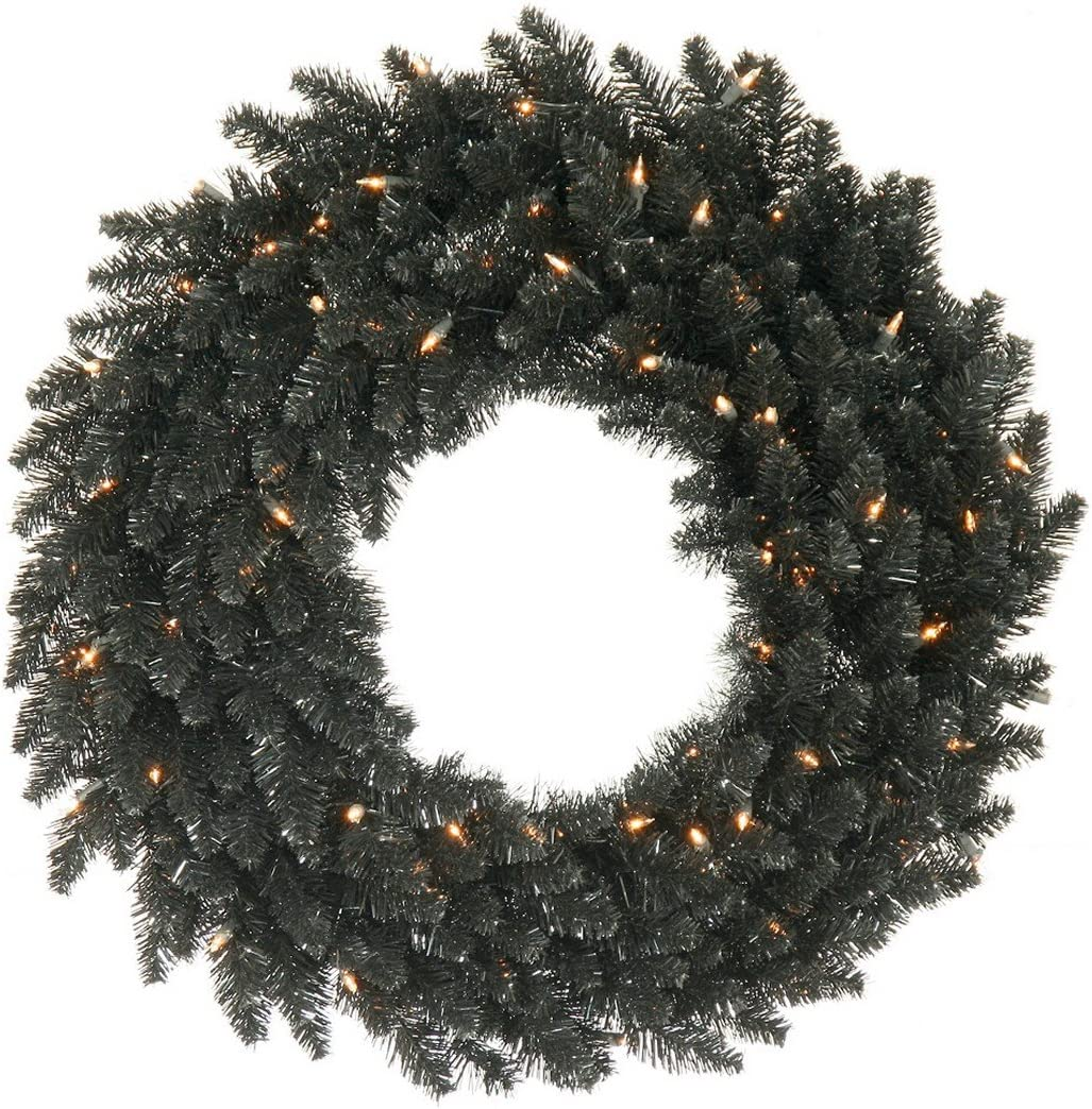 Clear//White Vickerman K160325 Wreath with 210 PVC tips /& 50 Dura-Lit lights on Wire 24