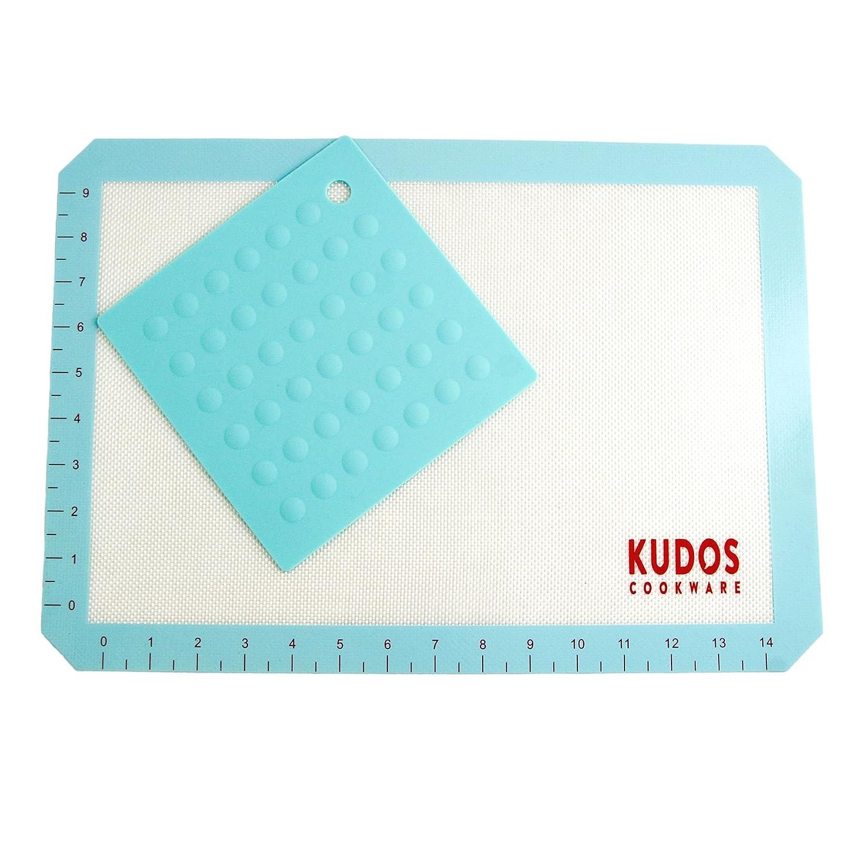 Amazon.com: Kudos Premium Nonstick Silicone Baking Mat Set. Compare ...