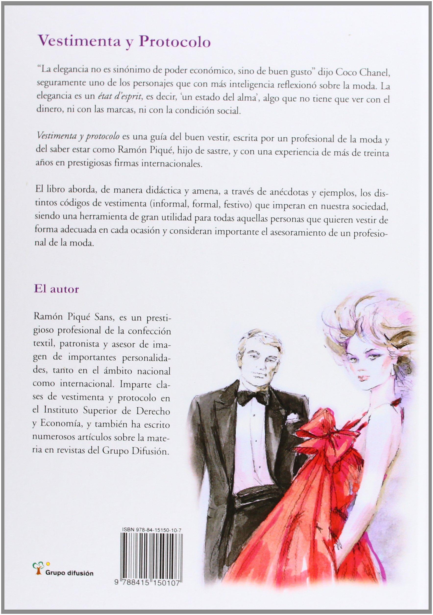 Vestimenta y Protocolo: Amazon.es: Pique, Ramon: Libros