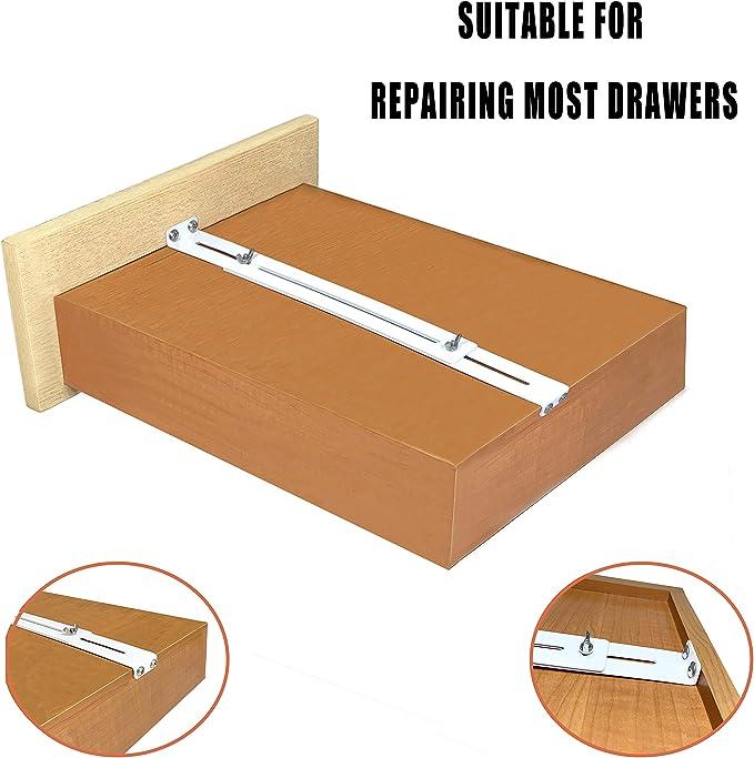 FRMSAET Kit de reparación de cajones - Accesorios de muebles Soportes utilizados para reforzar y reparar cajones de madera/MDF/aglomerado Refuerzo de gabinetes. (Paquete de 2): Amazon.es: Bricolaje y herramientas